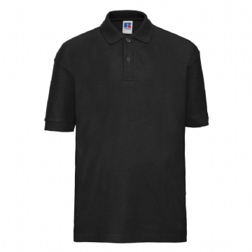 WICK HIGH SCHOOL BLACK POLO SHIRT WITH EMBROIDERED LOGO